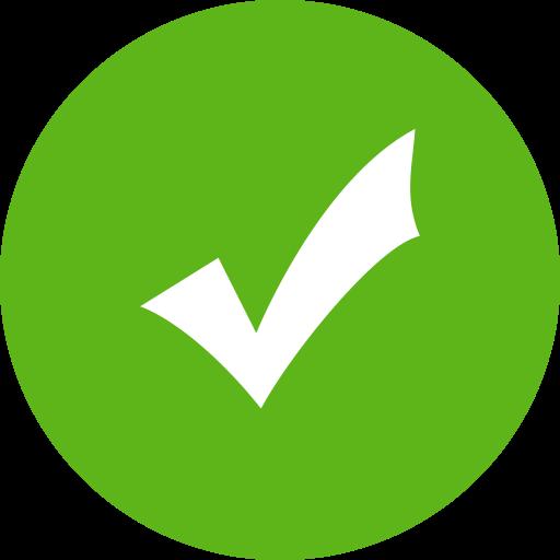 Check Green, Green, Leaf Icon