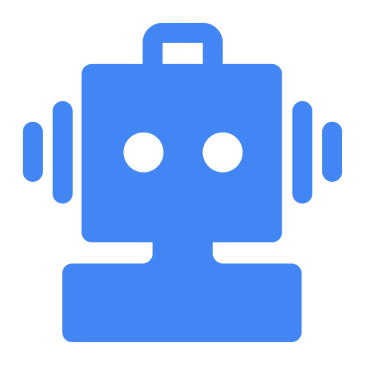 Wechat Robot Blue, Robot, Security Icon
