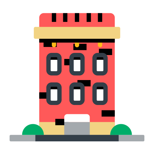Building 2, Simple, Multicolor Icon