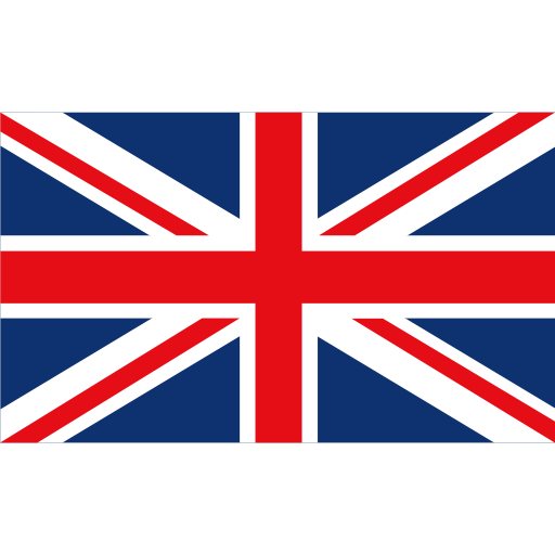 British Flag, Fill, Multicolor Icon