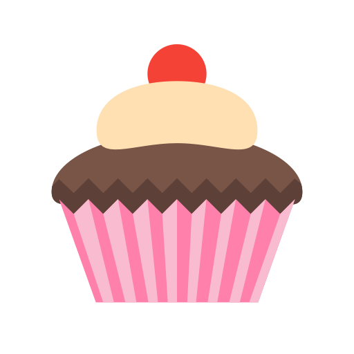 cupcake  dessert  eat icon with png and vector format for