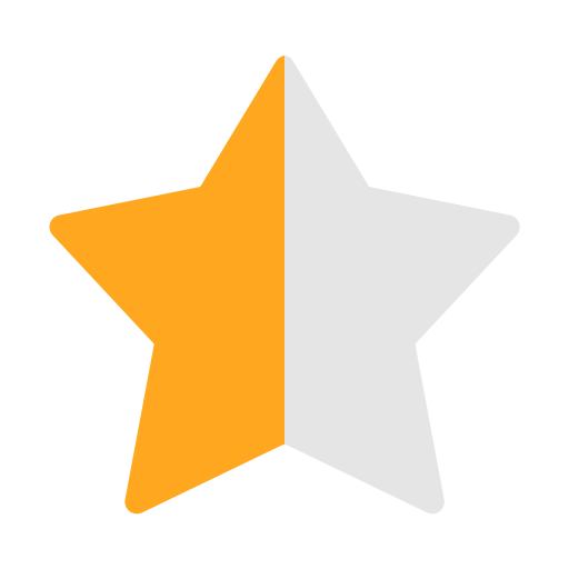 Evaluation Half Star Half Half Light Icon With Png And Vector