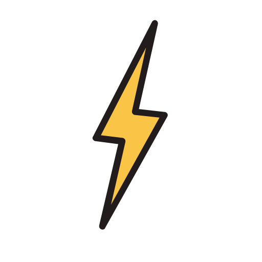 Lightning, Fill, Linear Icon