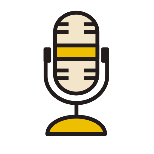 Microphone, Fill, Linear Icon