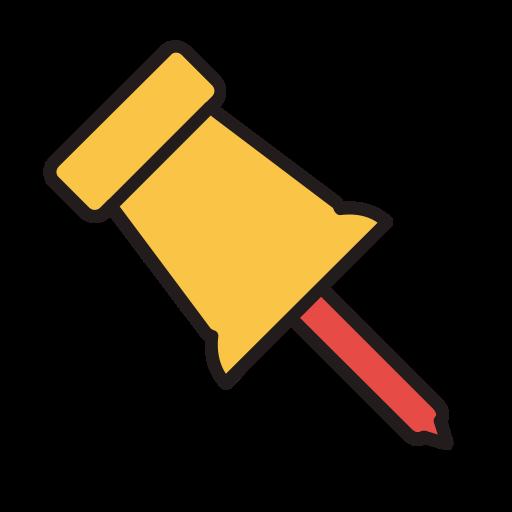 Pin, Fill, Linear Icon