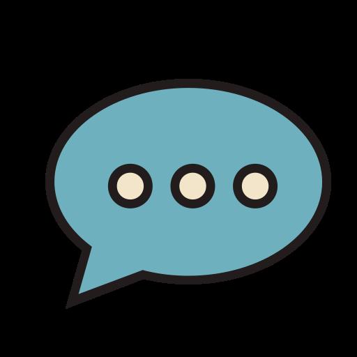 Talk, Fill, Linear Icon