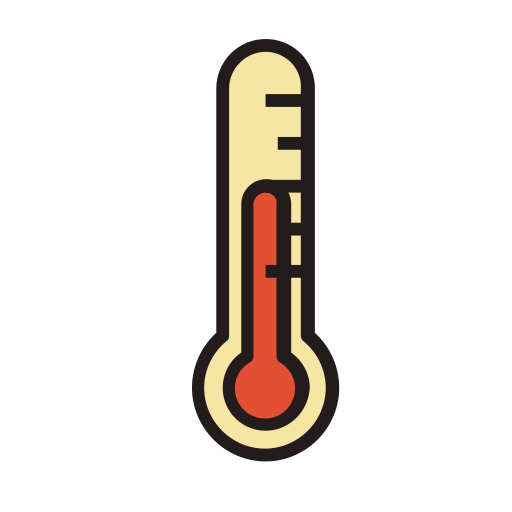 Thermometer, Fill, Linear Icon