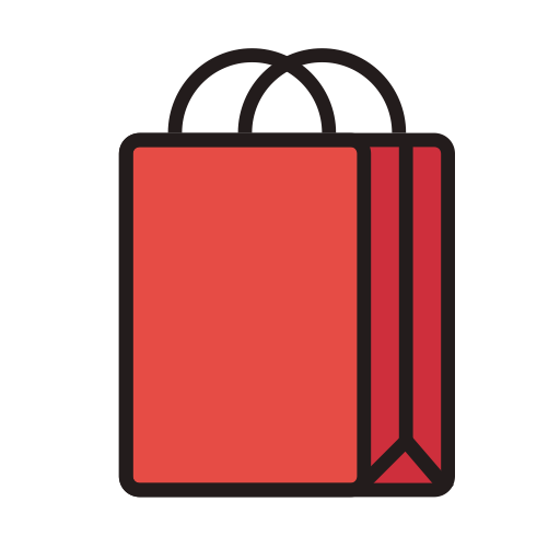 Bag, Fill, Linear Icon