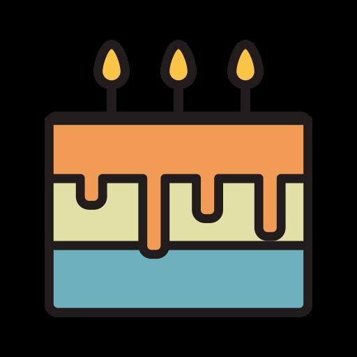 Birthday Cake, Fill, Linear Icon