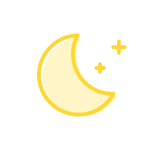 Clear Night, Moon, Fill Icon