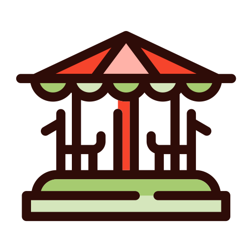 Merry Go Round, Simple, Multicolor Icon