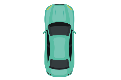 Top View Of The Green Car, Green, Home Icon