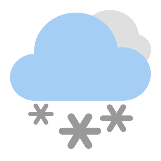 Heavy Snow  D, Fill, Flat Icon