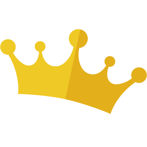 the golden crown golden layout icon with png and vector