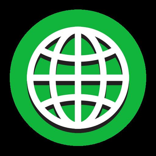 Internet, Fill, Flat Icon
