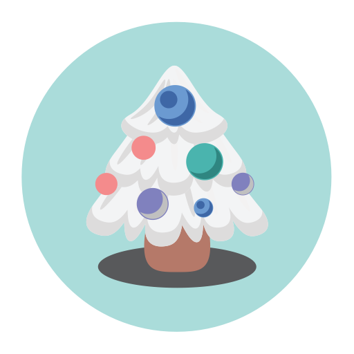 Christmas-tree-fill-multicolor Icon