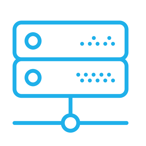 Ftp Server, Linear, Flat Icon
