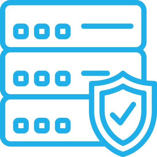 Security Ftp Server, Linear, Flat Icon