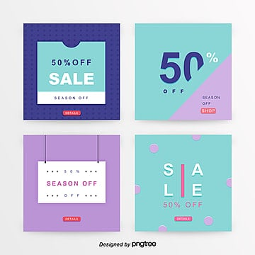 fresh color commercial shopping sns promotion banner set Template