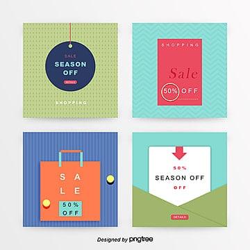 fresh color business sns promotion banner set Template