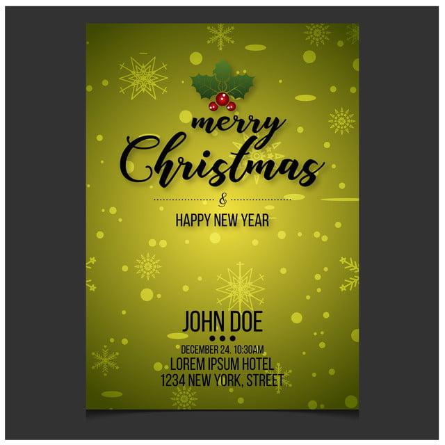 Feliz Navidad Año Nuevo Feliz Navidad Tarjeta De Invitación
