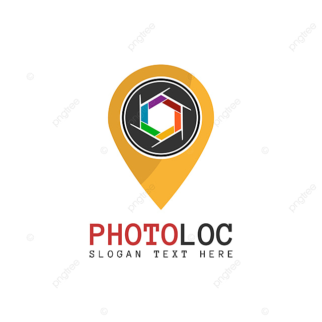 Vector Photo Location Logo Design Template Point And Shutter Camera That Made From A