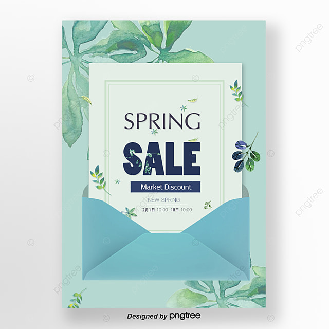 fresh green leaves of spring to take the promotional poster bed