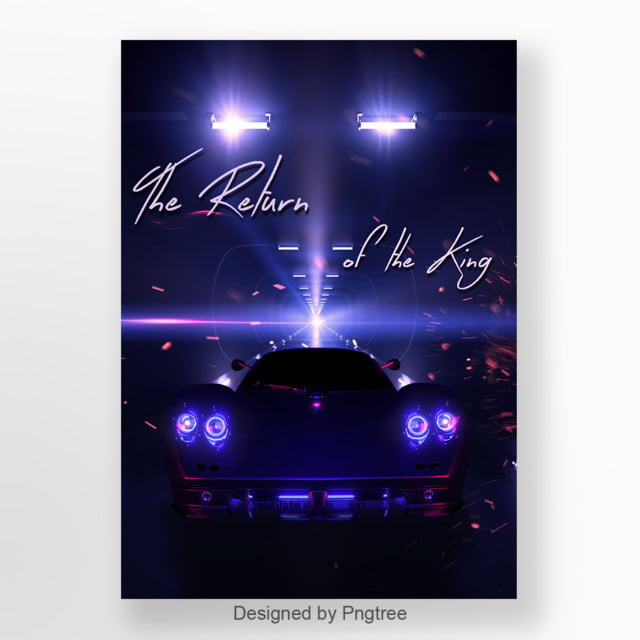 The Poster Purple The Super Car Return Of The King Template For
