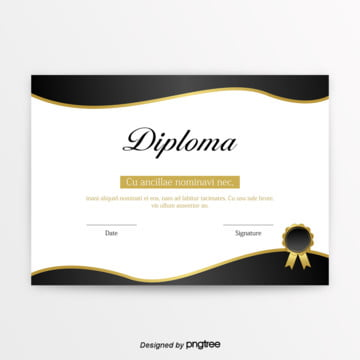 retro black gold certificate Template