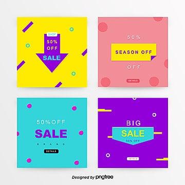 hong huang color color senior business man sns promotion banner set Template