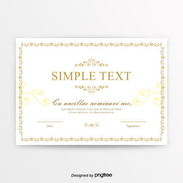white retro figure certificate Template