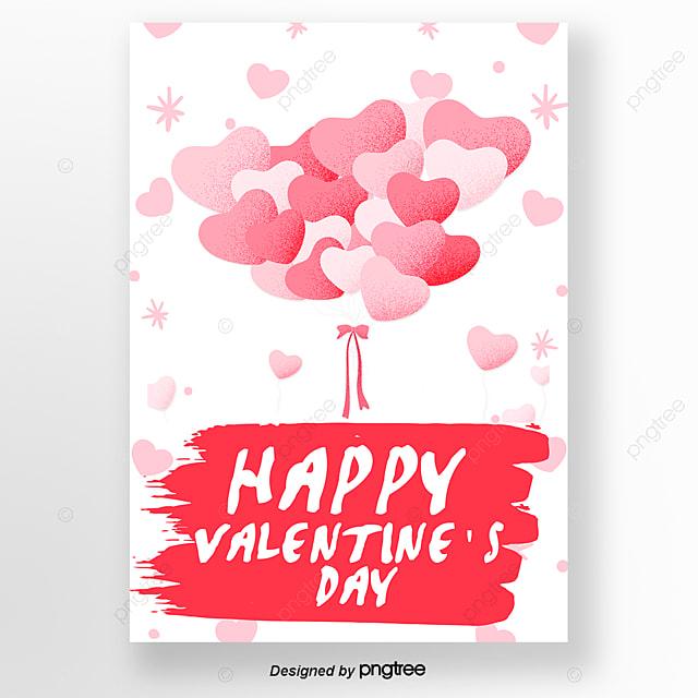 Różowy Balon Miłość W Walentynki Szablon Do Pobrania Za Darmo Na Pngtree