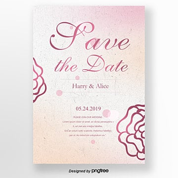 pink european invitation card for wedding anniversary Template