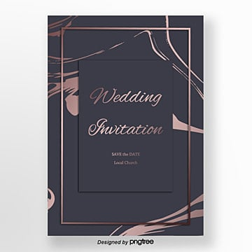 purple delicate rose gold marble wedding invitation letter Template