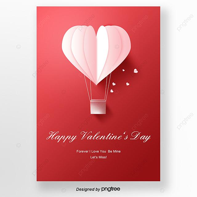 Wyrafinowany Styl Czerwone Kartki Na Walentynki Szablon Do Pobrania