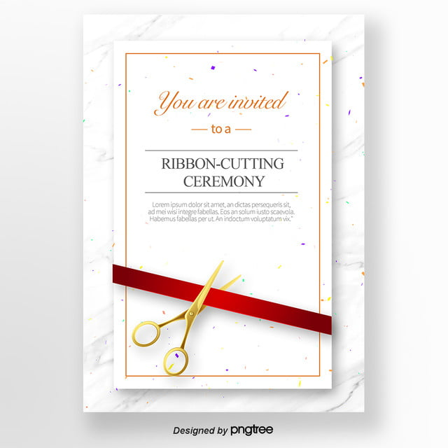 white concise opening ribbon