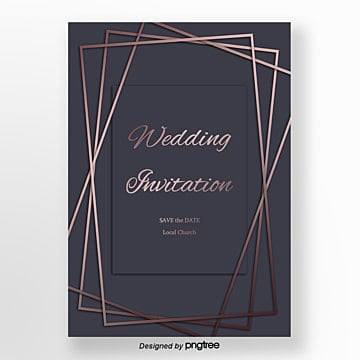 purple minimalistic geometric wedding invitation Template
