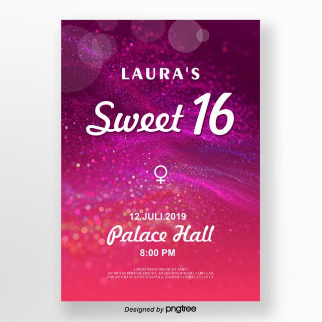 Sweet 16 invitation cards birthday template cafe322. Com.