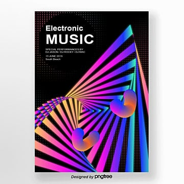 Geometric Fluid Poster for the Abstract Gradual Music Festival Template