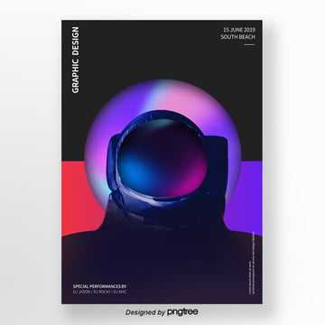 Gradual Change Creative Astronaut Poster, Cutting, Originality, Business Background PNG and PSD