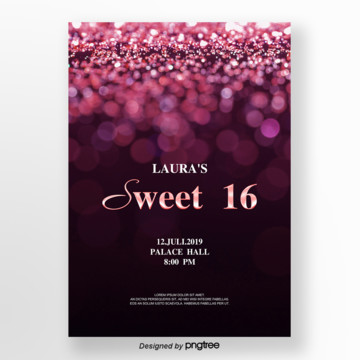 purple flash 16 invitation letter Template