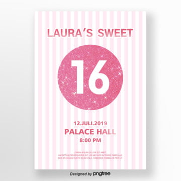 rose golden lovely 16 invitation letter Template