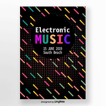 vector flattening summer electro acoustic syllable abstract gradient geometric poster Template