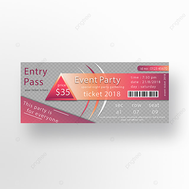 Entry P Event Ticket Design Template