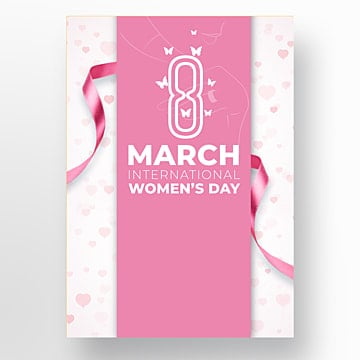 Modern Fashion Simple International Womens Day Publicity Poster, Thirty-eight, Silhouette, Aestheticism PNG and PSD