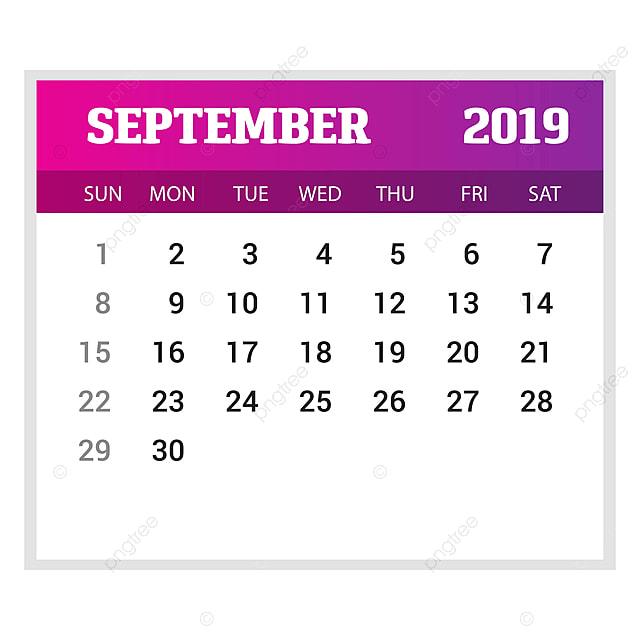 Calendario De Septiembre 2019 Para Imprimir Animado.Plantilla De Calendario Septiembre 2019 Feliz Ano Nuevo