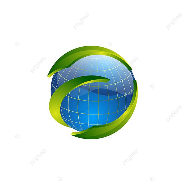 logo de cercle vert swoosh mod u00e8le globe terrestre mod u00e8le