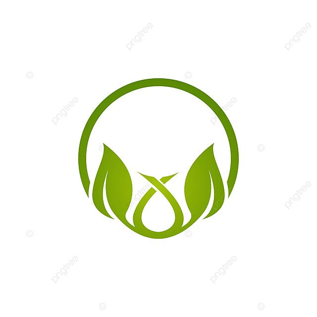 Logo Daun Hijau Ekologi Unsur Alam Vektor Ikon Bentuk Sh