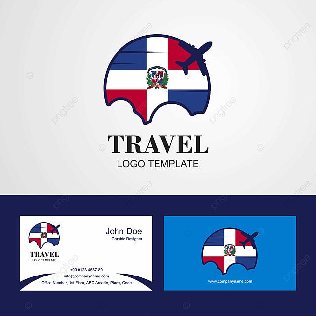 Republique Dominicaine Du Voyage Ou Logo Et Carte De Visite Modele