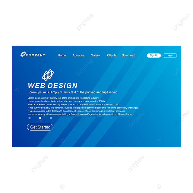 Web Page With Abstrack Background Template for Free ...